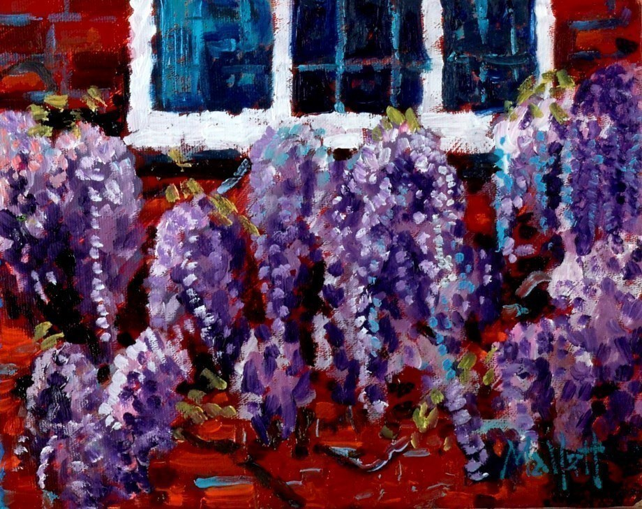 Wisteria Window by Timmy Mallett -  sized 10x8 inches. Available from Whitewall Galleries